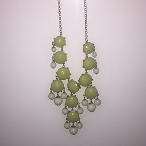 Necklace J Crew green and gold.